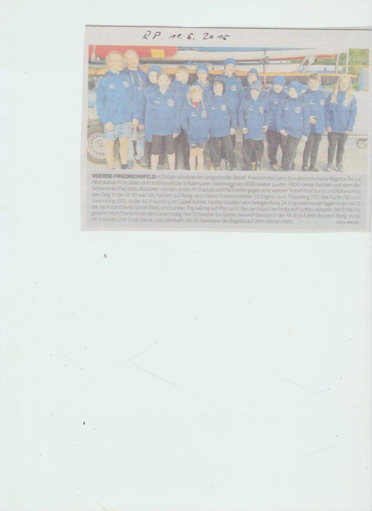 Erfolgreiche Jugend vom KC Friedrichsfeld 052015