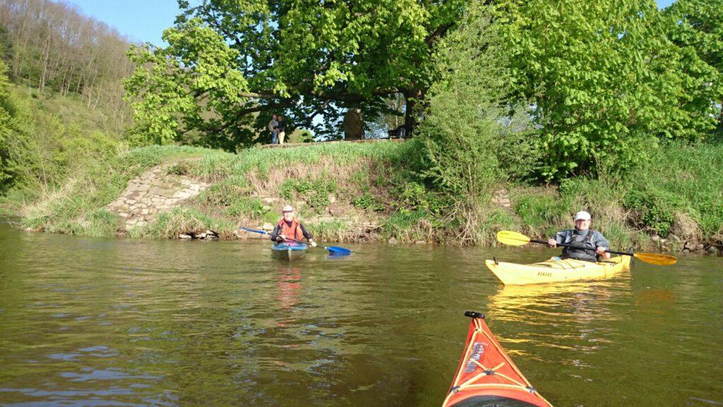 Foto Weserberglandtour 2015 auf dem Wasser
