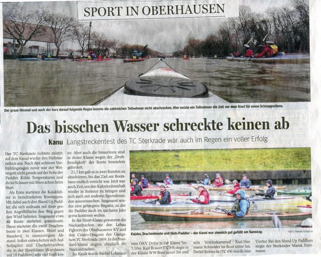 Halbmarathon auf dem Rhein-Herne-Kanal in Oberhausen