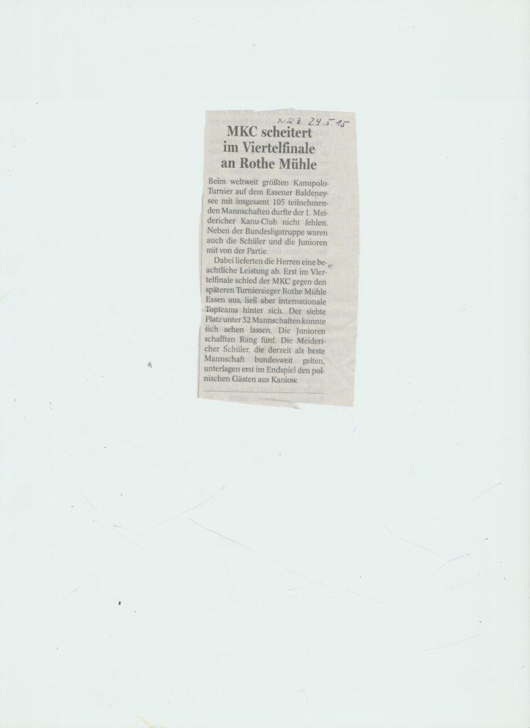 MKC beim weltgrößten Kanupolo erfolgreich 052015