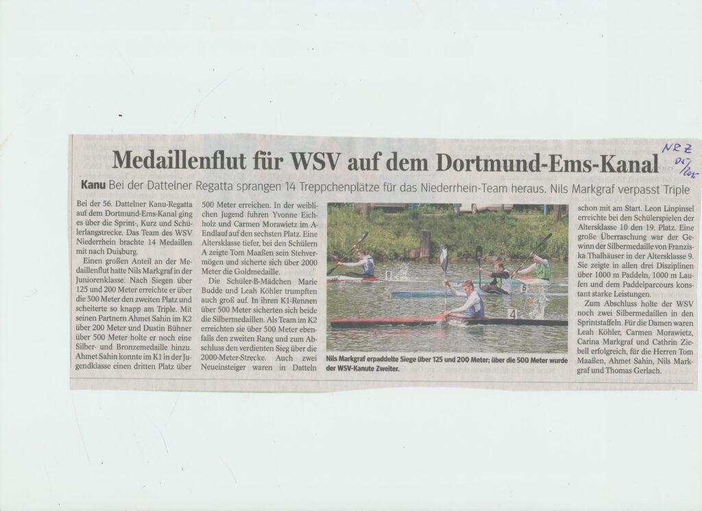 Medaillienflut für den WSV Niederrhein