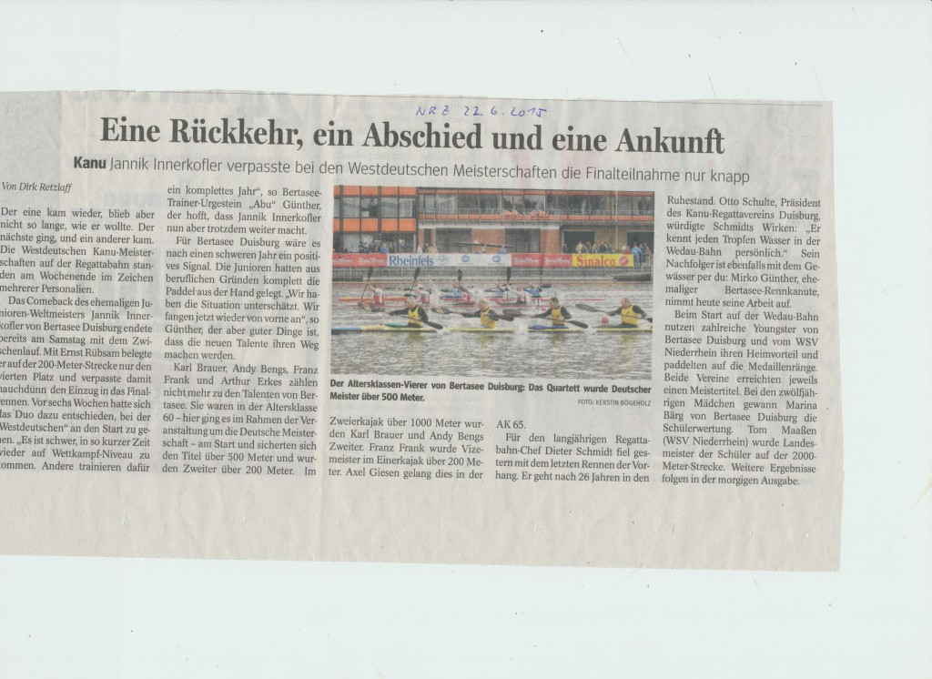 Westdeutsche Meisterschaft DU-Wedau Juni 2015