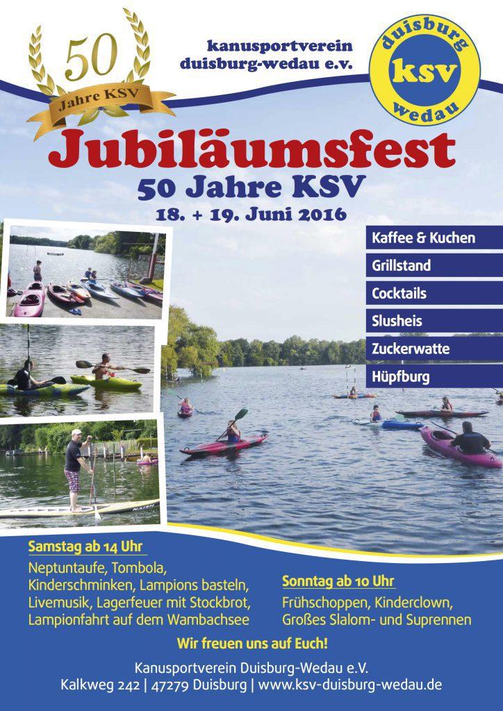 Flyer_50 Jahrfeier KSV Wedau 18062016